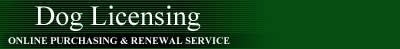 Dog Licensing Online Purchasing & Renewal Service